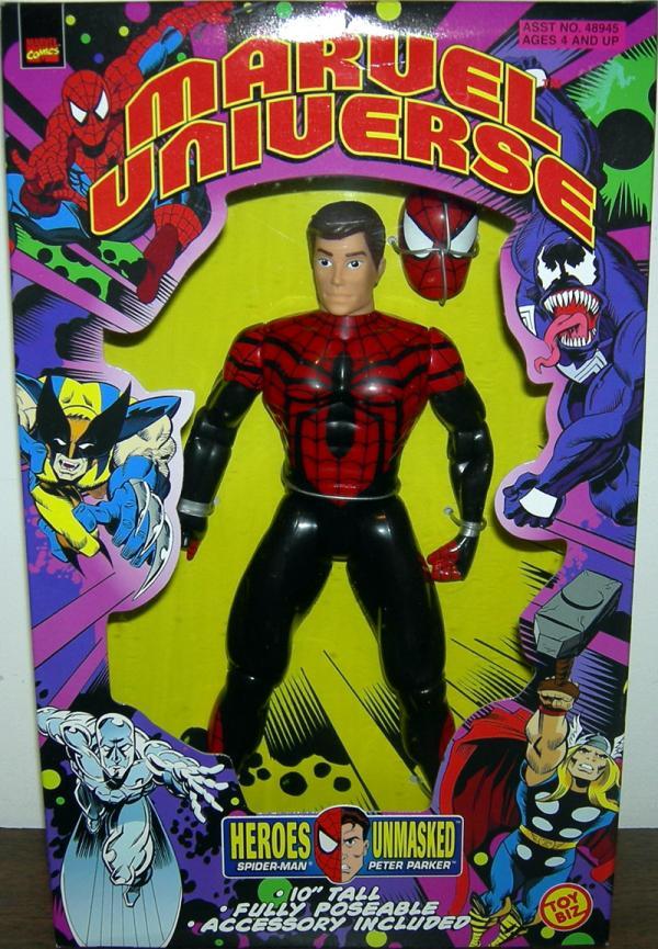 10 inch Heroes Unmasked Spider-Man / Peter Parker (Marvel Universe)