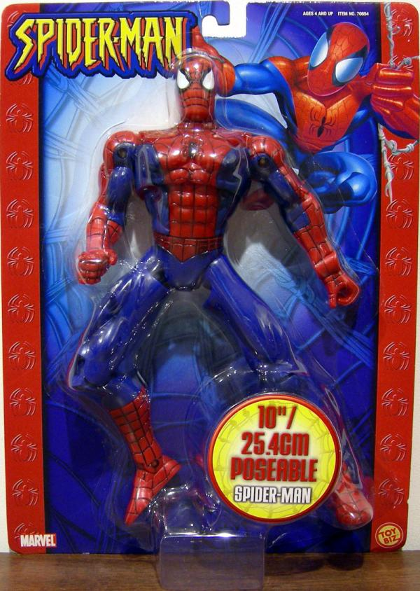 Super Poseable Spider-Man Figure 10 Inch Carded Toy Biz