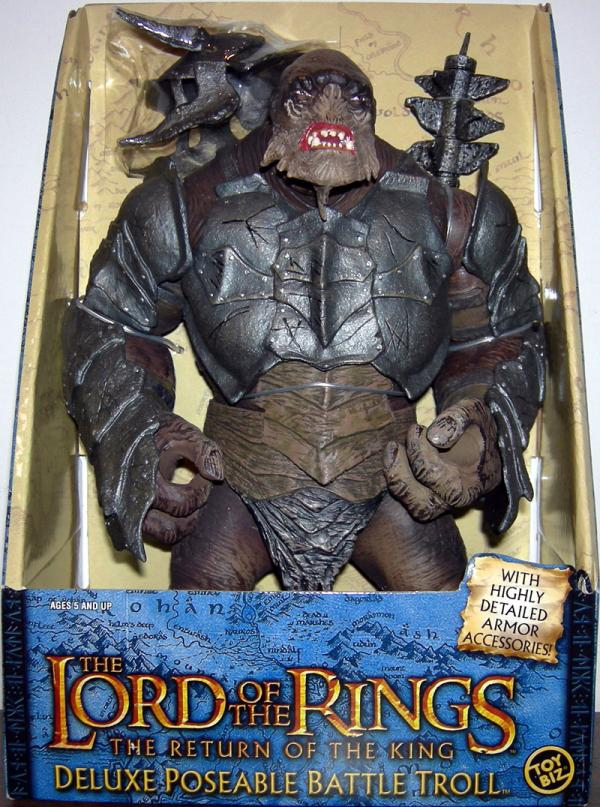 Battle Troll Figure Deluxe Poseable Lord Rings Return King