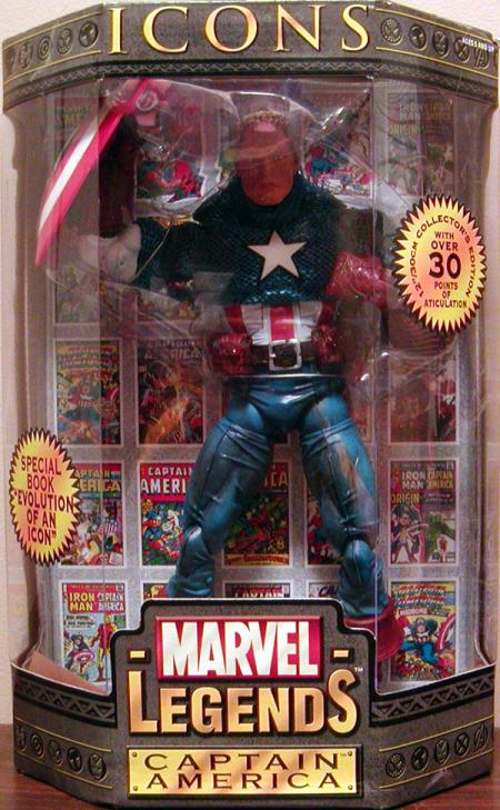 12 inch Captain America, Marvel Legends Icons, unmasked