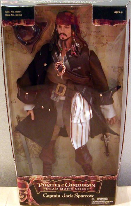 Captain Jack Sparrow Figure 12 Inch Dead Mans Chest Pirates Caribbean