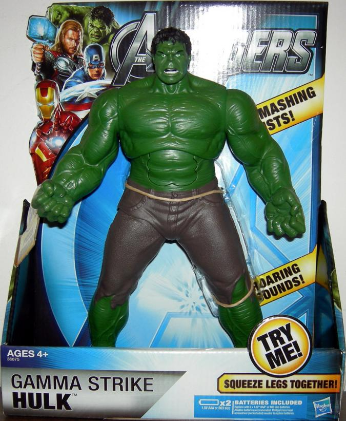10 inch Gamma Strike Hulk Avengers dark pants action figure