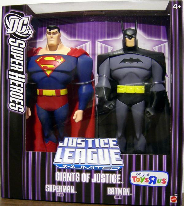 Giants Justice Batman Superman Figures Justice League Unlimited