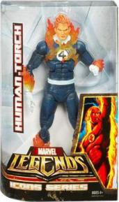 12 inch Human Torch, Marvel Legends Icons, flaming on