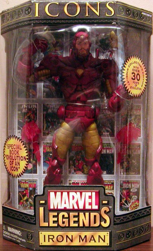 12 inch Iron Man, Marvel Legends Icons, gold armor