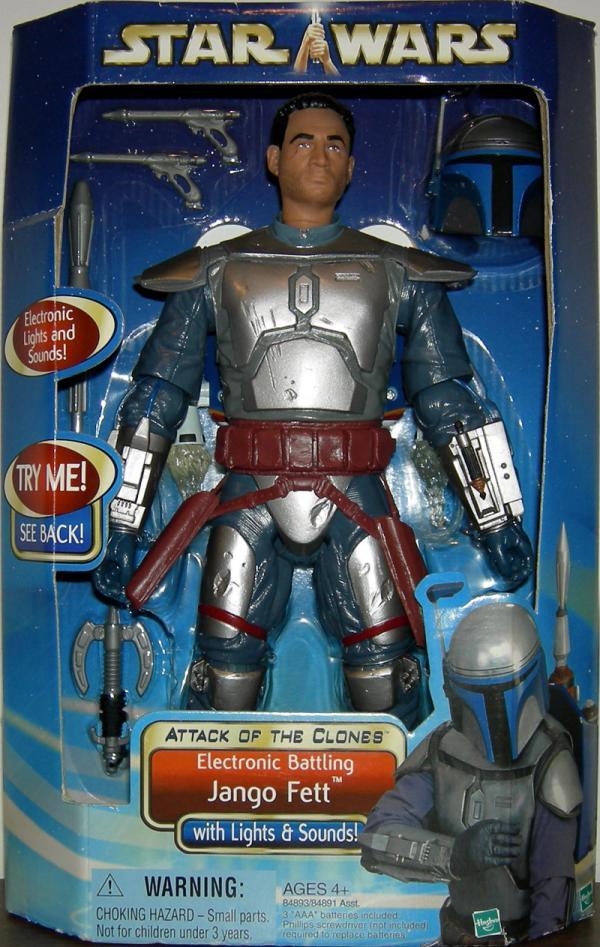Electronic Battling Jango Fett Star Wars Attack Clones action figure