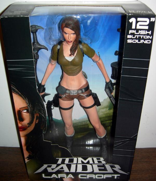 12 inch Lara Croft Push Button Sound Tomb Raider action figure