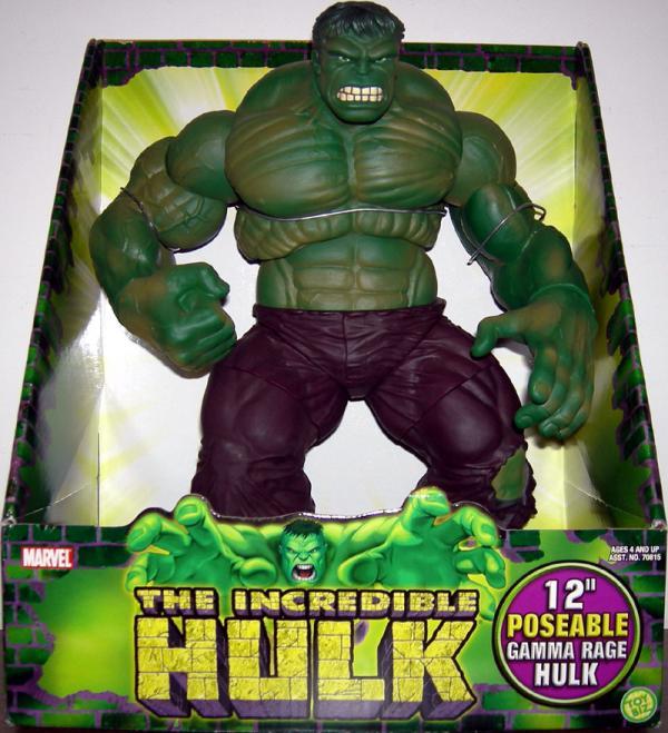 12 inch Poseable Gamma Rage Hulk Action Figure Toy Biz