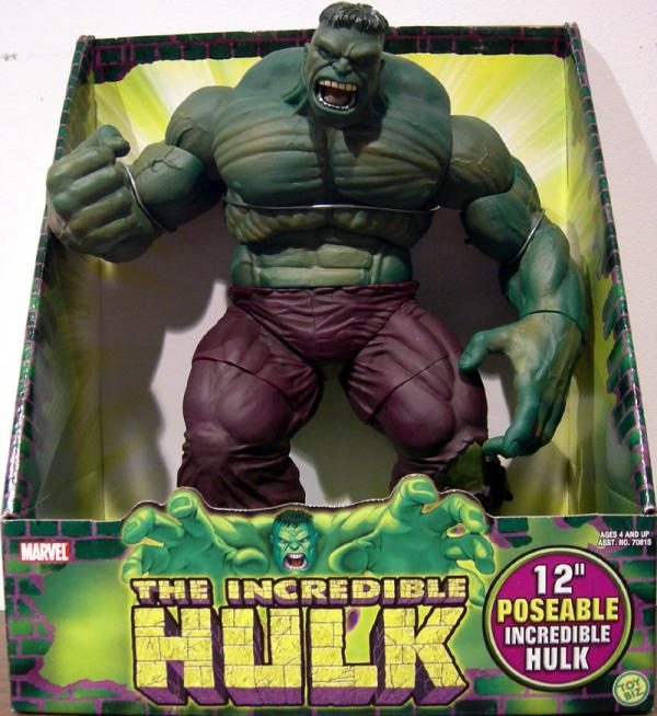 12 Inch Tall Poseable Incredible Hulk Action Figure Toy Biz