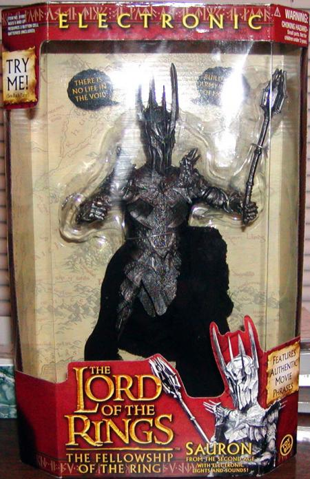 10 inch Sauron Lord Rings Fellowship Ring action figure