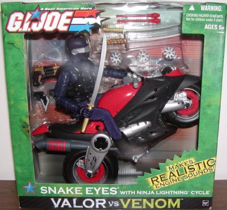 12 inch Snake Eyes Ninja Lightning Motorcycle