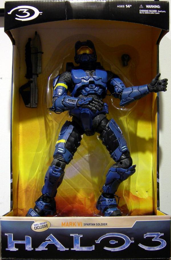 12 inch Spartan Soldier Mark VI, blue