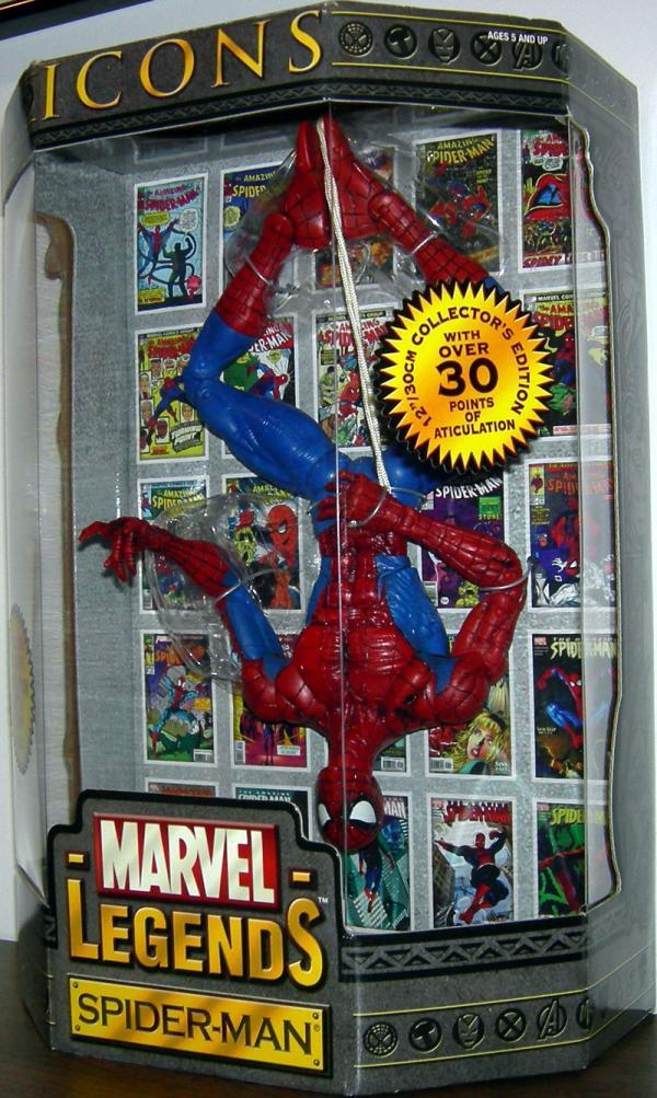 Hanging Spider-Man Figure 12 Inch Marvel Legends Icons