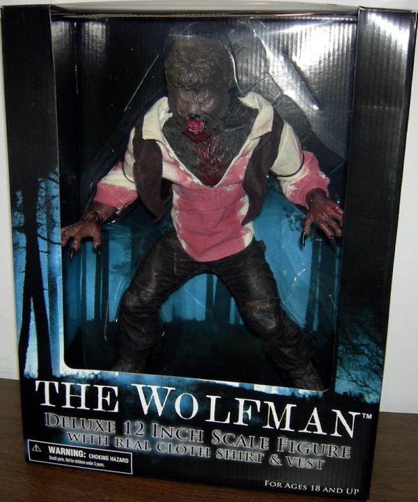 12 Inch Tall Wolfman 2010 Movie Action Figure Mezco