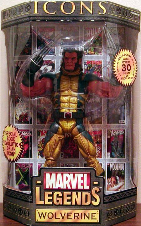 Wolverine Marvel Legends Icons Figure Unmasked Toy Biz
