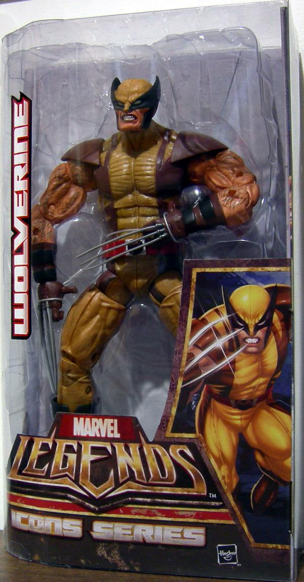 12 inch Wolverine, Marvel Legends Icons, brown costume