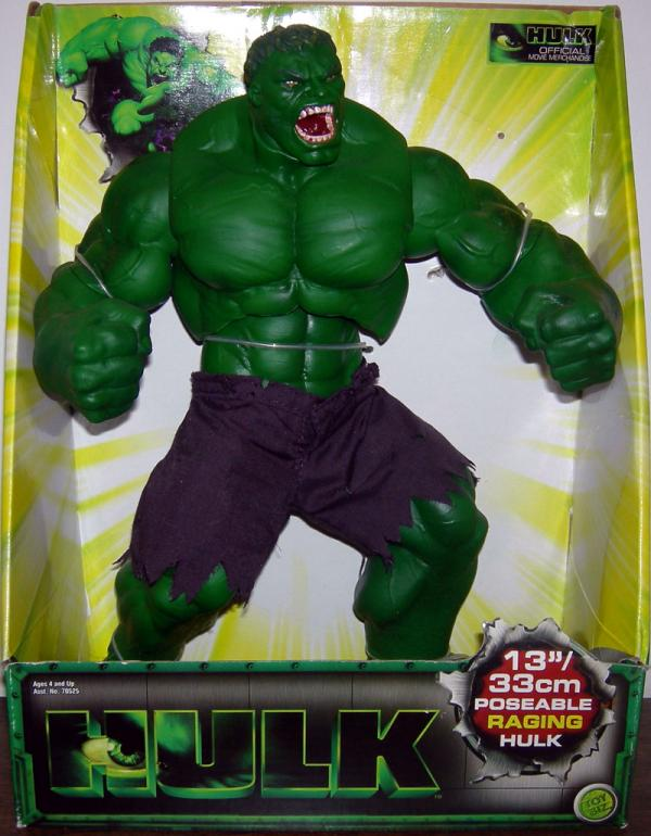 13 inch Poseable Raging Hulk Movie action figure