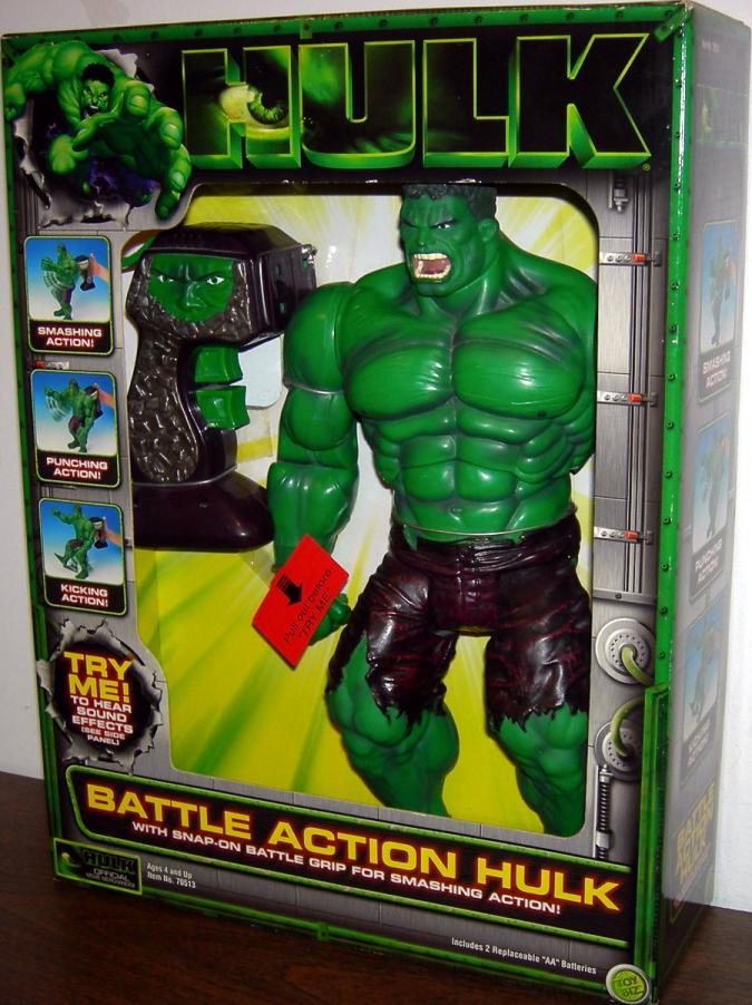 13 inch Battle Action Hulk Movie Action Figure Toy Biz