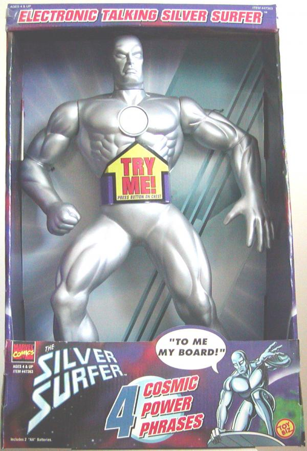 15 inch Silver Surfer, talking