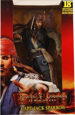 18 inch Capt Jack Sparrow Pirates Caribbean Worlds End action figure