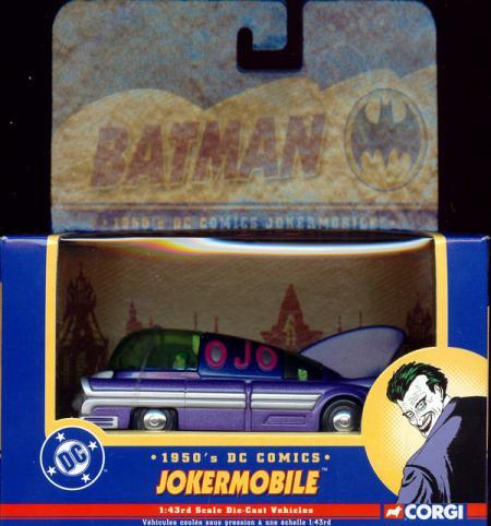 1950s Jokermobile Corgi 1-43rd scale die-cast Batman vehicle