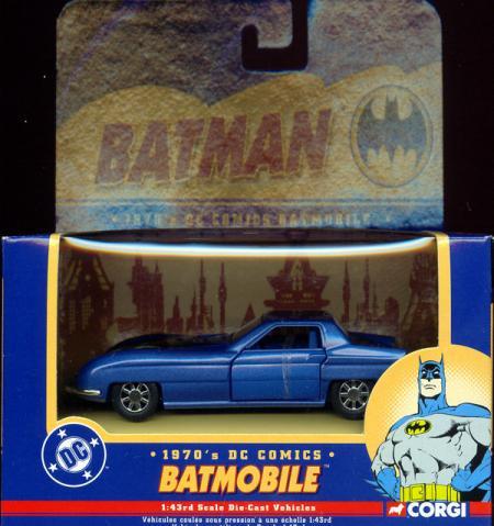 1970s Batmobile, 1-43rd scale die-cast
