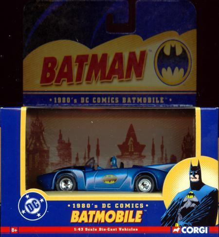 1980s Batmobile, 1-43rd scale die-cast