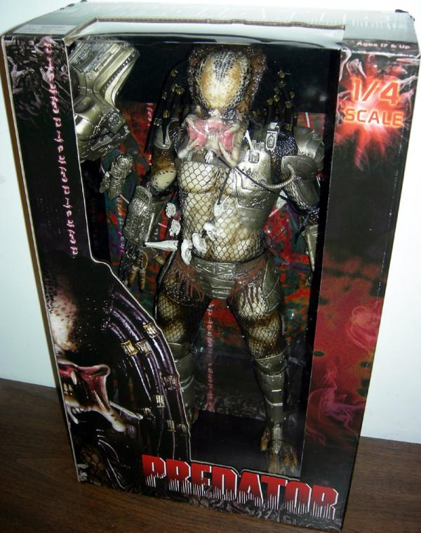 19 inch Predator, unmasked, open mandibles action figure