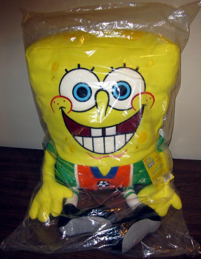 24 inch Soccer SpongeBob Cuddle Pillow