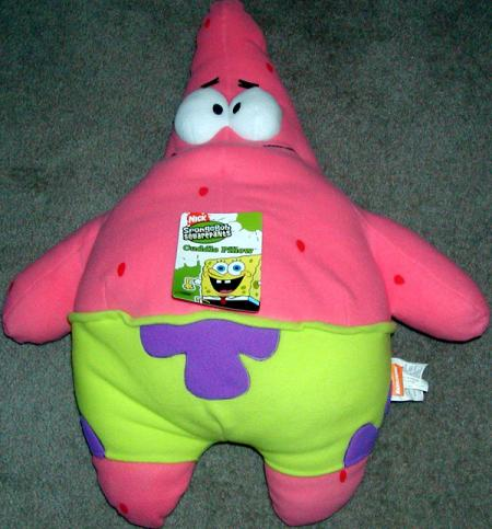 Patrick Star Plush Cuddle Pillow 26 Inches Tall SpongeBob