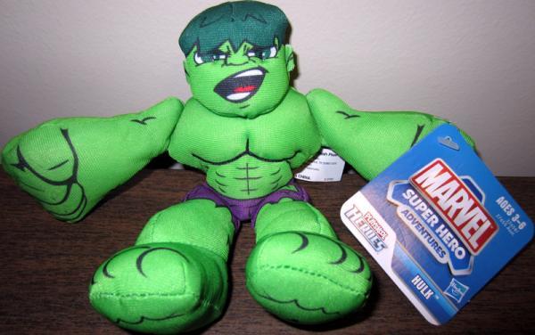 Hulk Plush Marvel Super Hero Adventures Playskool Heroes