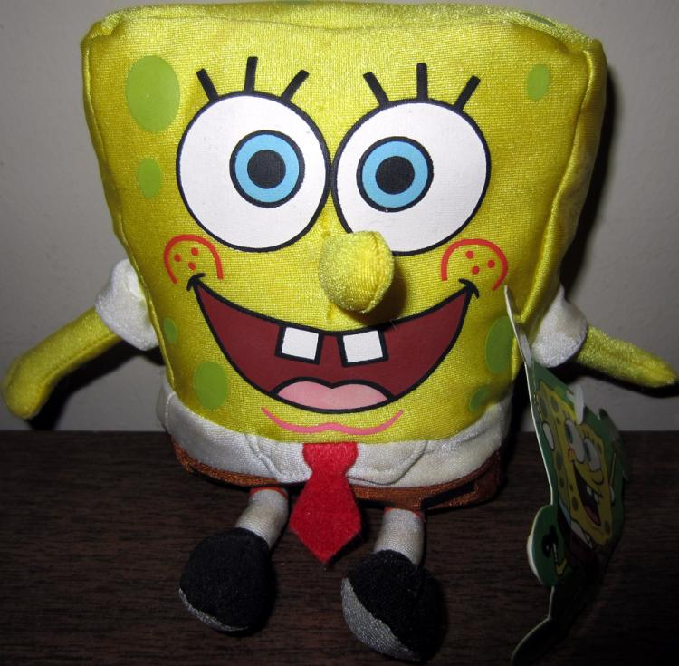 SpongeBob Squarepants Plush 7 Inches Tall Gosh