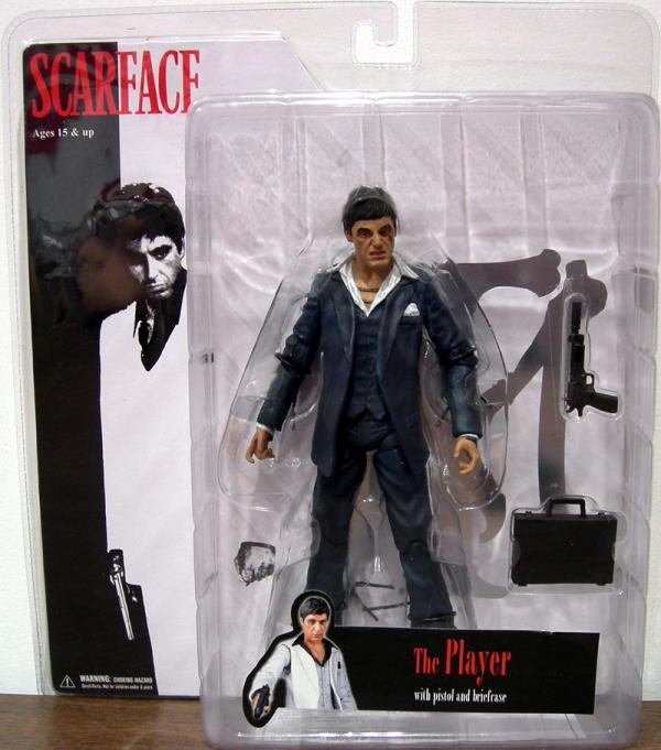 7 inch Scarface, Player, blue suit, angry