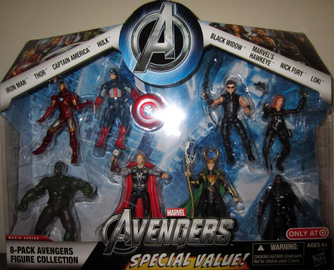 8-Pack Avengers Figure Collection Target Exclusive action figures