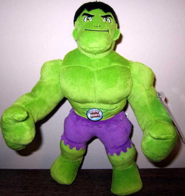 9 inch Talking Hulk Plush, Super Hero Squad