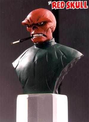 Bowen Designs Red Skull Mini Bust