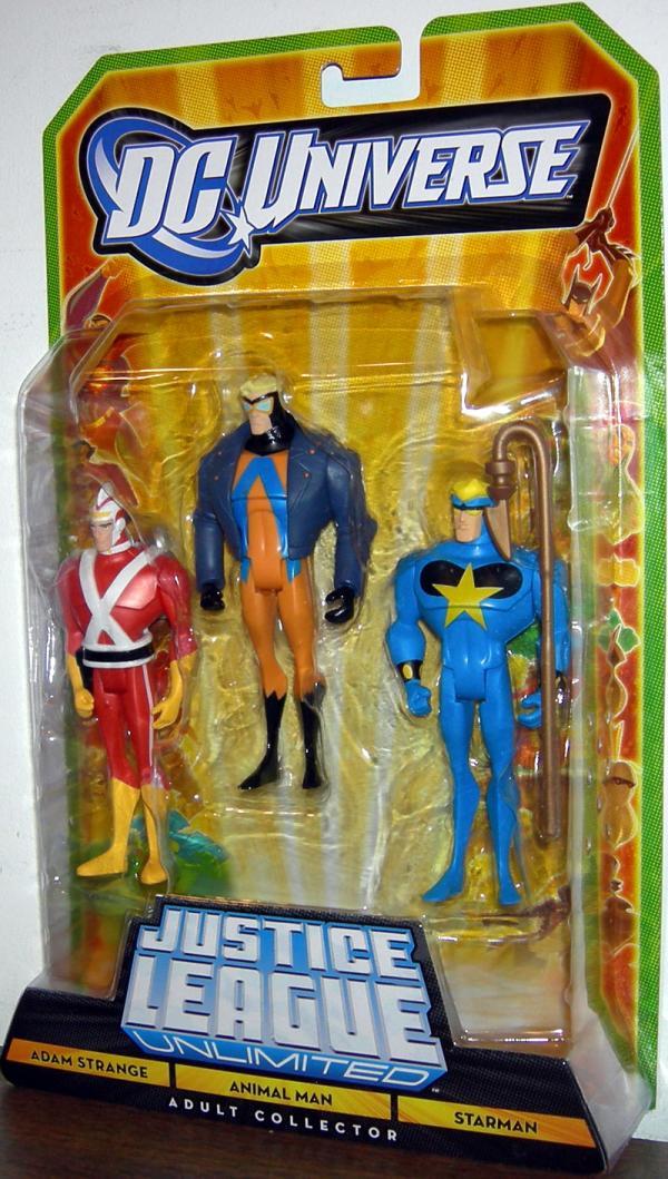 Adam Strange Animal Man Starman Figures DC Universe
