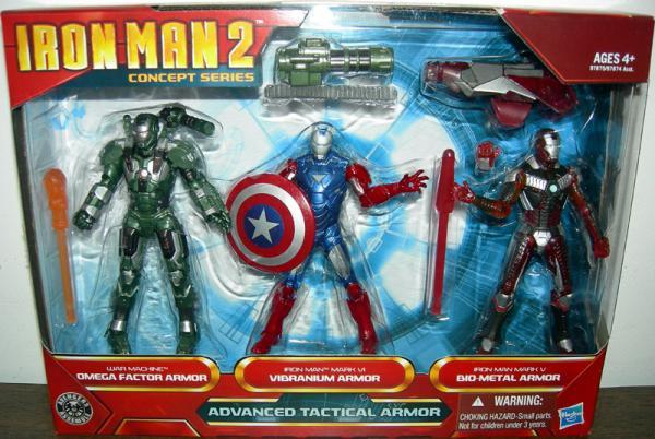 Iron Man 2 Advanced Tactical Armor Figures Hasbro
