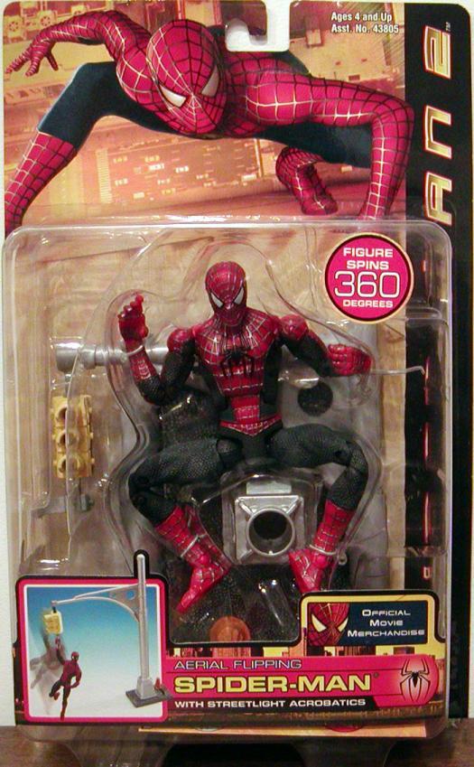 Aerial Flipping Spider-Man 2 Action Figure Movie Toy Biz