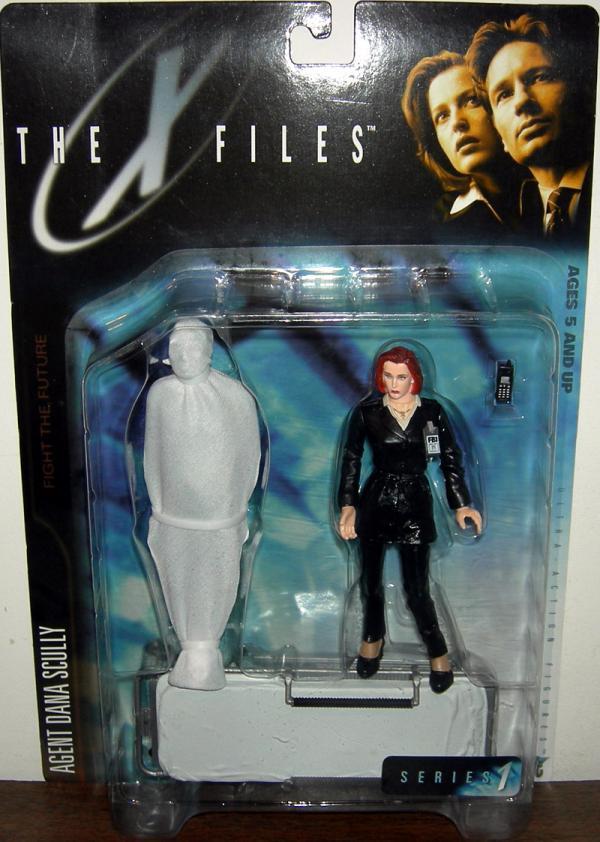 Agent Dana Scully, victim body bag gurney