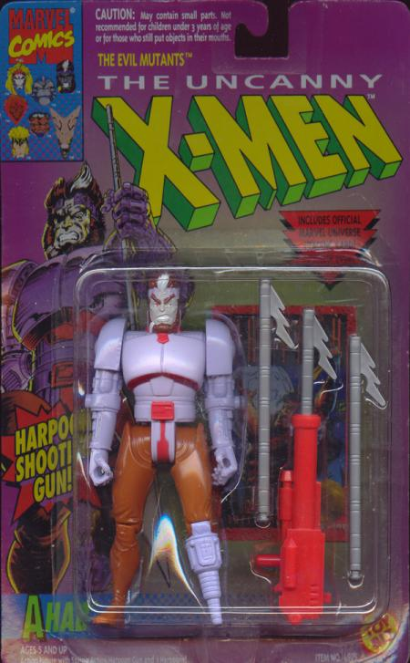 Ahab Action Figure X-Men Harpoon Shooting Gun Toy Biz