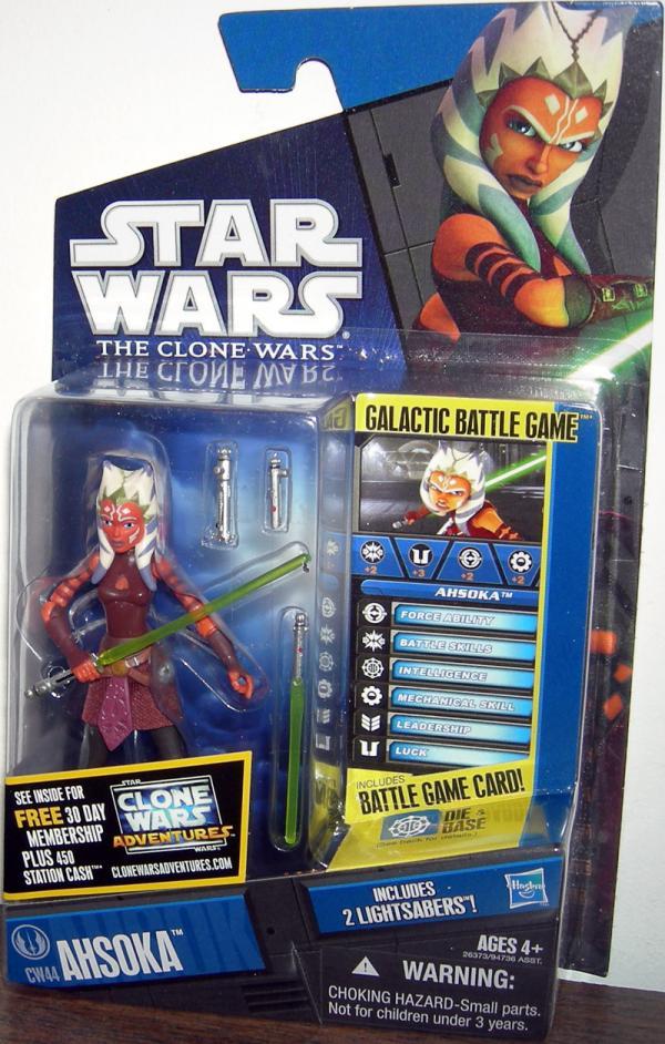 Ahsoka Action Figure CW44 Star Wars Clone Wars Hasbro