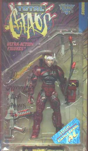 Al Simmons Red Todd McFarlane Autograph Total Chaos action figure