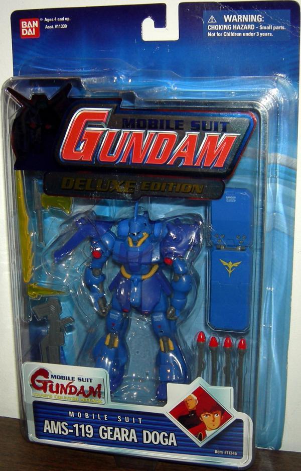 AMS-119 Geara Doga Figure Blue Card Mobile Suit Gundam