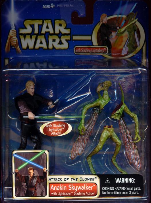 Anakin Skywalker, deluxe lightsaber slashing action