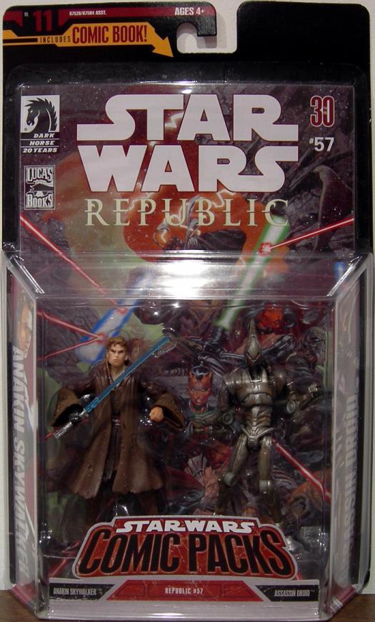 Anakin Skywalker Assassin Droid, Comic Packs