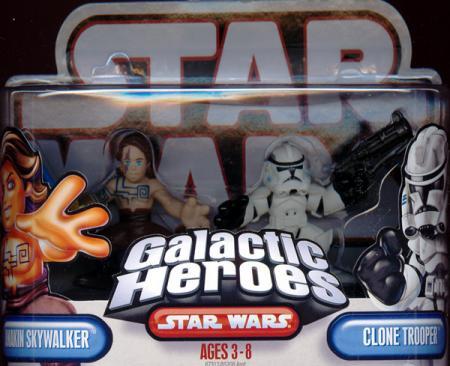 Nelvaan Anakin Skywalker Clone Trooper Figures Galactic Heroes
