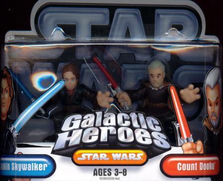 Anakin Skywalker Count Dooku Star Wars Galactic Heroes action figures