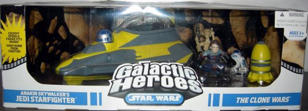 Anakin Skywalkers Jedi Starfighter Vehicle Galactic Heroes