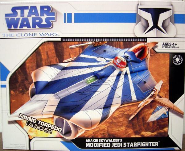 Anakin Skywalkers Modified Jedi Starfighter, Clone Wars